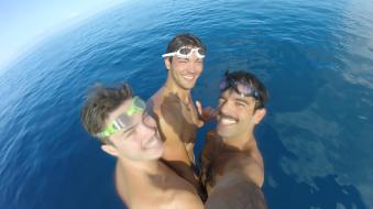 Tim Rea, Chris Pearson and I all on the Coast Guard Buoy!